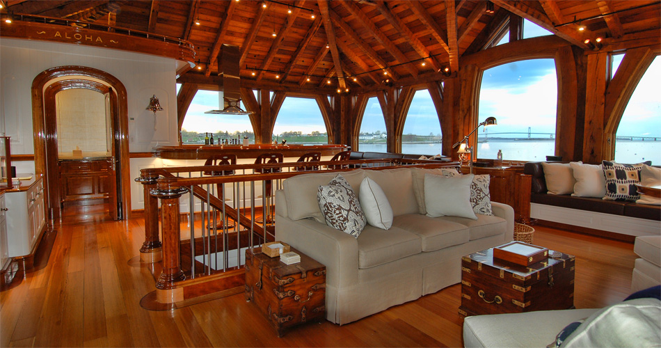 Langan design partners newport boat house for Boat interior design ideas home