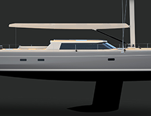 An 85-foot Sailing Yacht