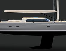 An 85-foot Sailing Yacht